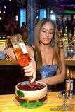 Main Room Bartender / Preparing Scorpion Bowl / Vandome Signature Drink